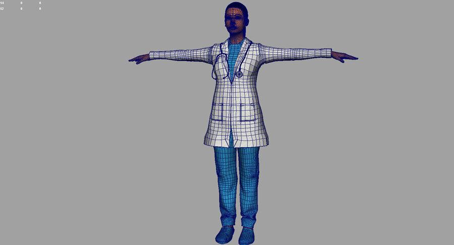 印度女孩医生3D模型 royalty-free 3d model - Preview no. 22