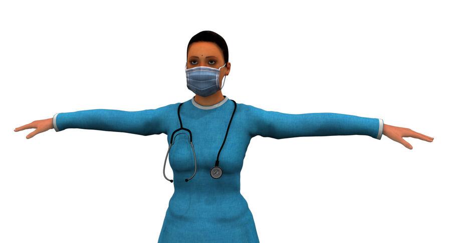 印度女孩医生3D模型 royalty-free 3d model - Preview no. 17