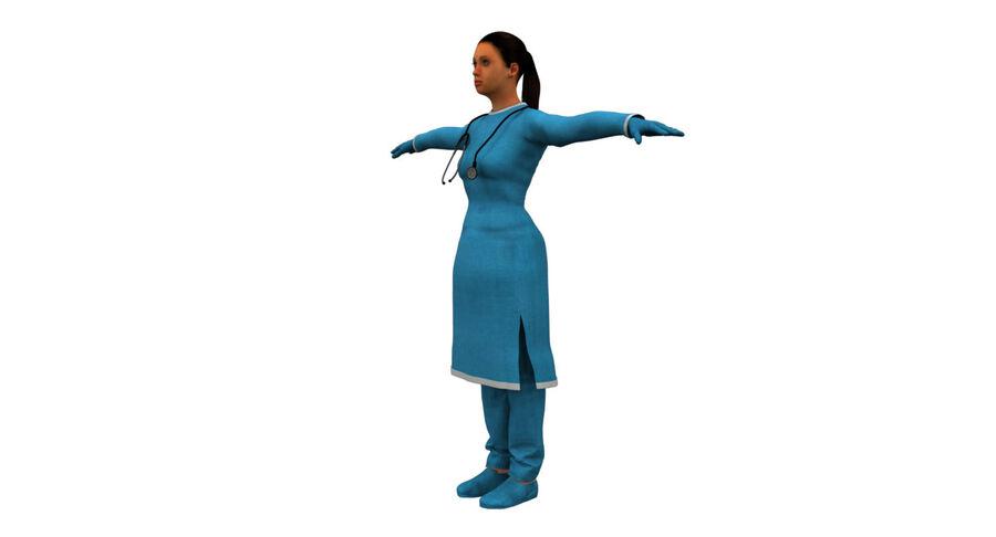 印度女孩医生3D模型 royalty-free 3d model - Preview no. 7