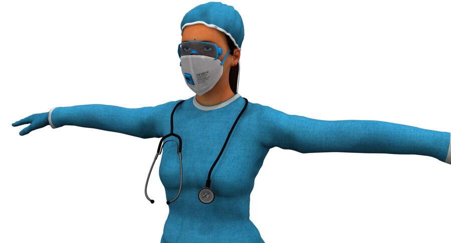 印度女孩医生3D模型 royalty-free 3d model - Preview no. 4