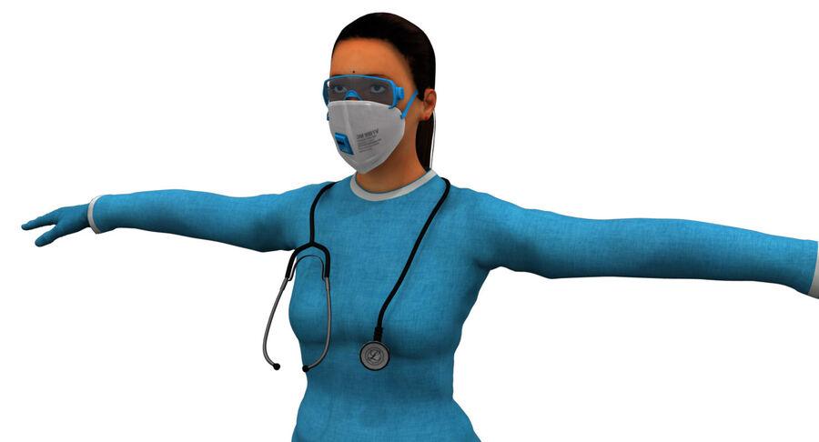 印度女孩医生3D模型 royalty-free 3d model - Preview no. 3