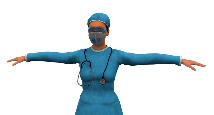 印度女孩医生3D模型 royalty-free 3d model - Preview no. 20