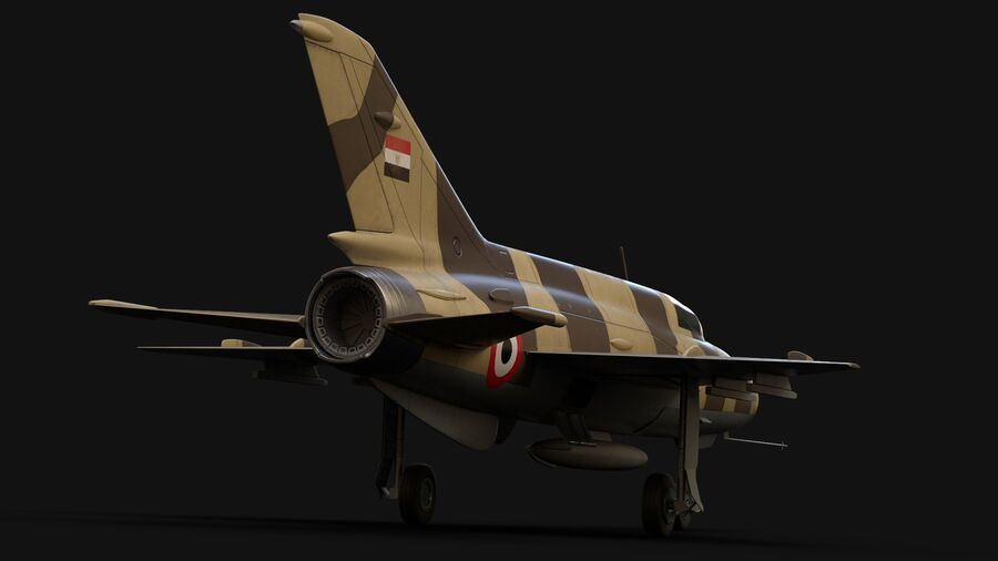 MiG-21 Fighter royalty-free 3d model - Preview no. 3
