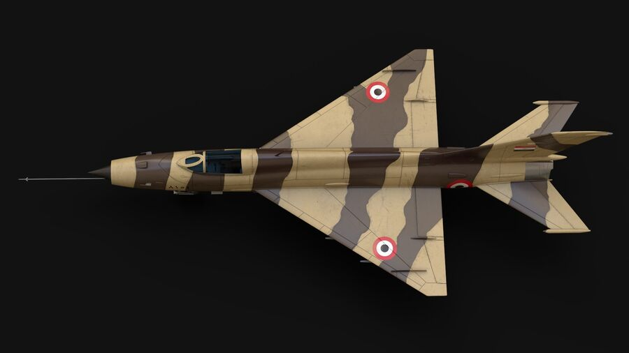 MiG-21 Fighter royalty-free 3d model - Preview no. 5