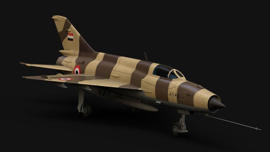 MiG-21 Fighter royalty-free 3d model - Preview no. 1