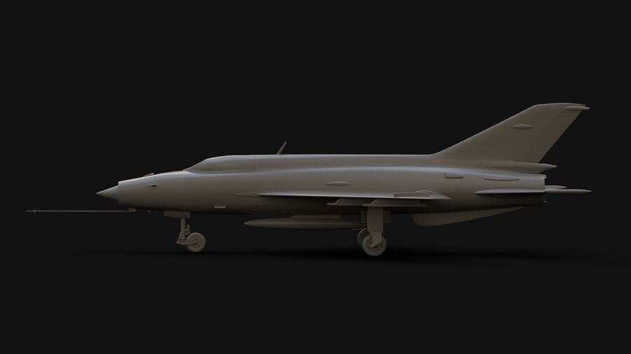 MiG-21 Fighter royalty-free 3d model - Preview no. 8