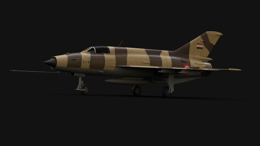 MiG-21 Fighter royalty-free 3d model - Preview no. 4