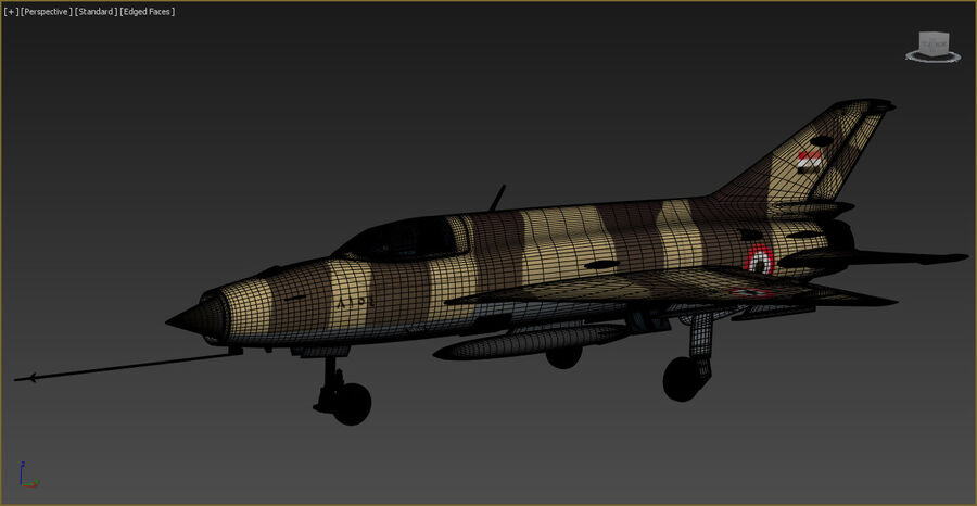 MiG-21 Fighter royalty-free 3d model - Preview no. 12