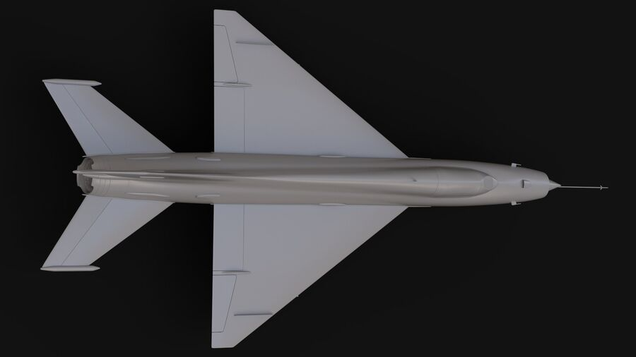 MiG-21 Fighter royalty-free 3d model - Preview no. 11