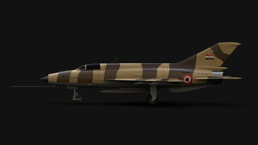 MiG-21 Fighter royalty-free 3d model - Preview no. 7