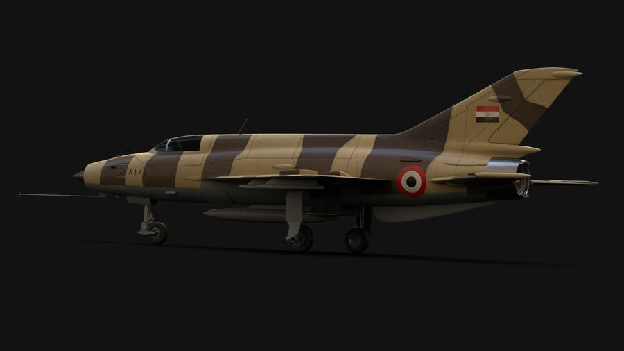 MiG-21 Fighter royalty-free 3d model - Preview no. 2