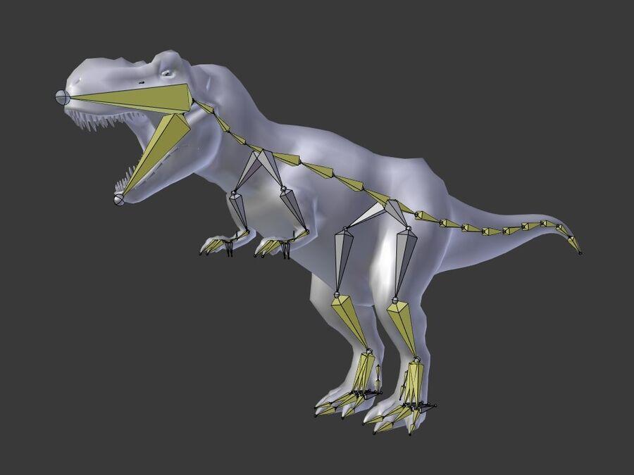 Tyrannosaurus Rex Rigged royalty-free 3d model - Preview no. 29
