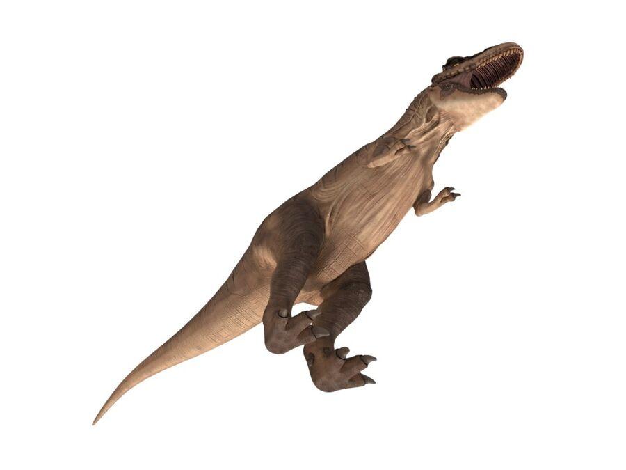 Tyrannosaurus Rex Rigged royalty-free 3d model - Preview no. 9