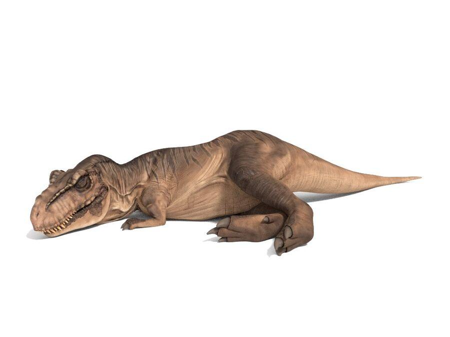 Tyrannosaurus Rex Rigged royalty-free 3d model - Preview no. 3