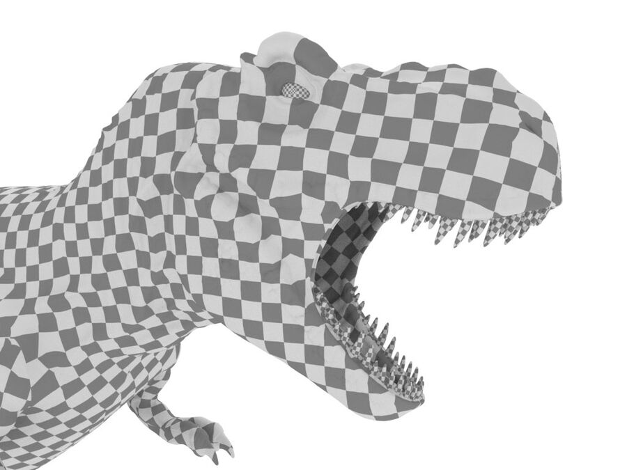 Tyrannosaurus Rex Rigged royalty-free 3d model - Preview no. 27