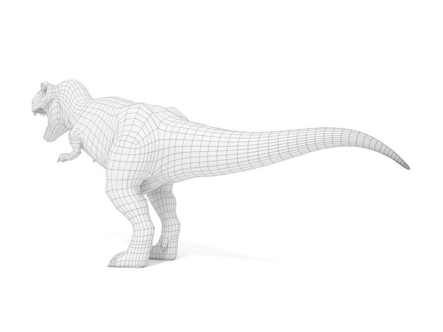 Tyrannosaurus Rex Rigged royalty-free 3d model - Preview no. 23