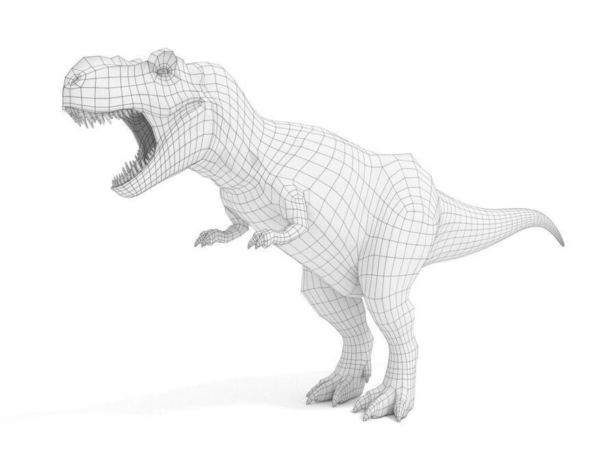 Tyrannosaurus Rex Rigged royalty-free 3d model - Preview no. 22
