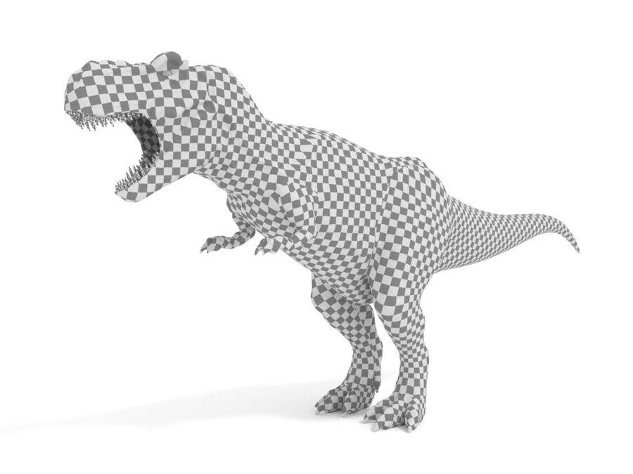 Tyrannosaurus Rex Rigged royalty-free 3d model - Preview no. 25