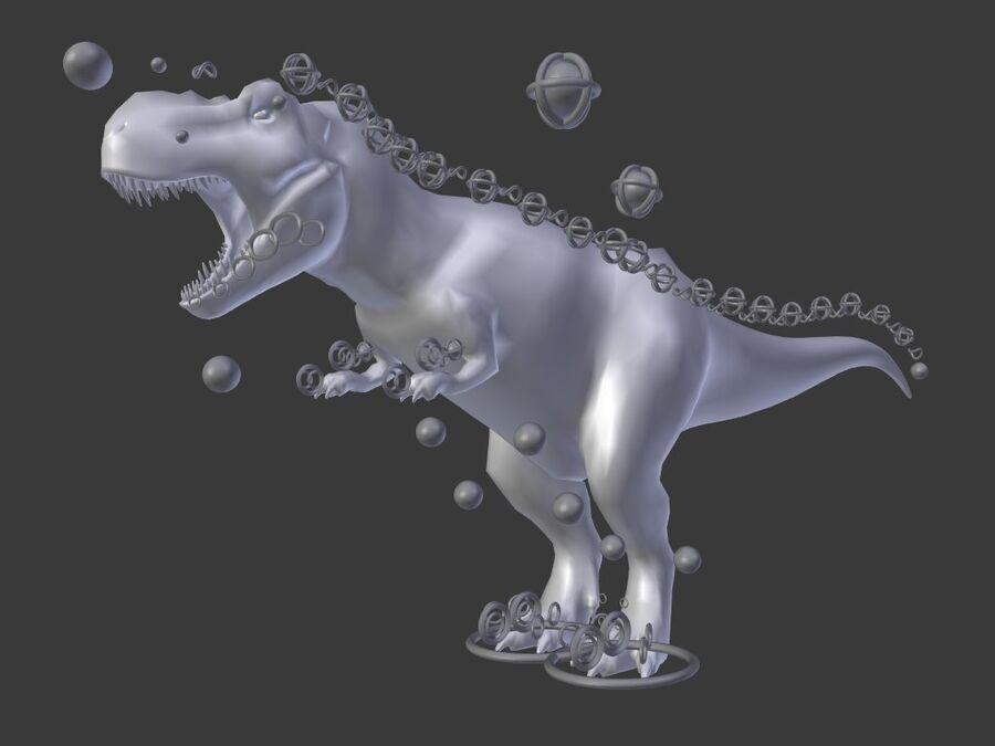 Tyrannosaurus Rex Rigged royalty-free 3d model - Preview no. 28
