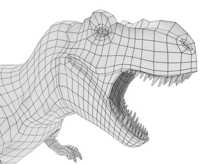 Tyrannosaurus Rex Rigged royalty-free 3d model - Preview no. 24