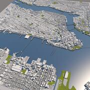 Mapa da cidade de Nova York de Manhattan 3d model