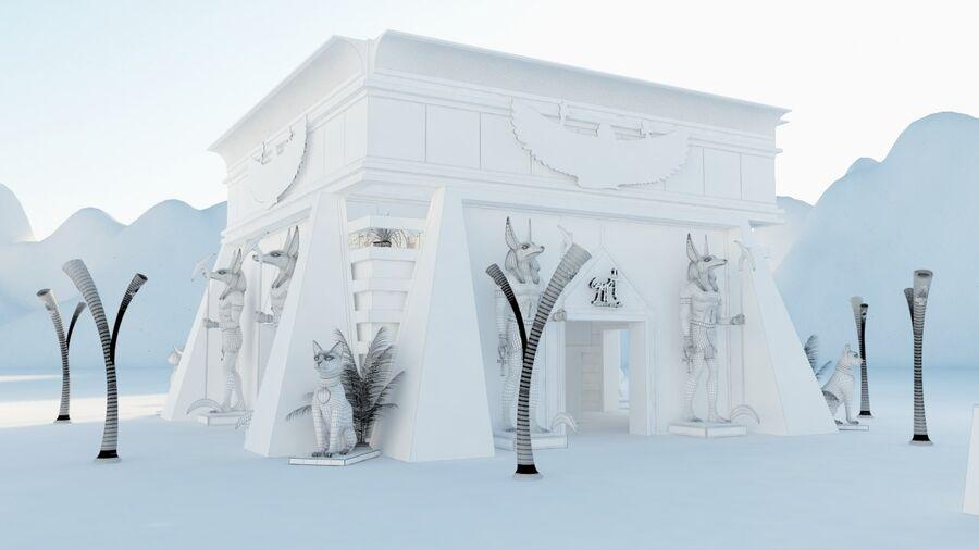 templo egipcio royalty-free modelo 3d - Preview no. 2