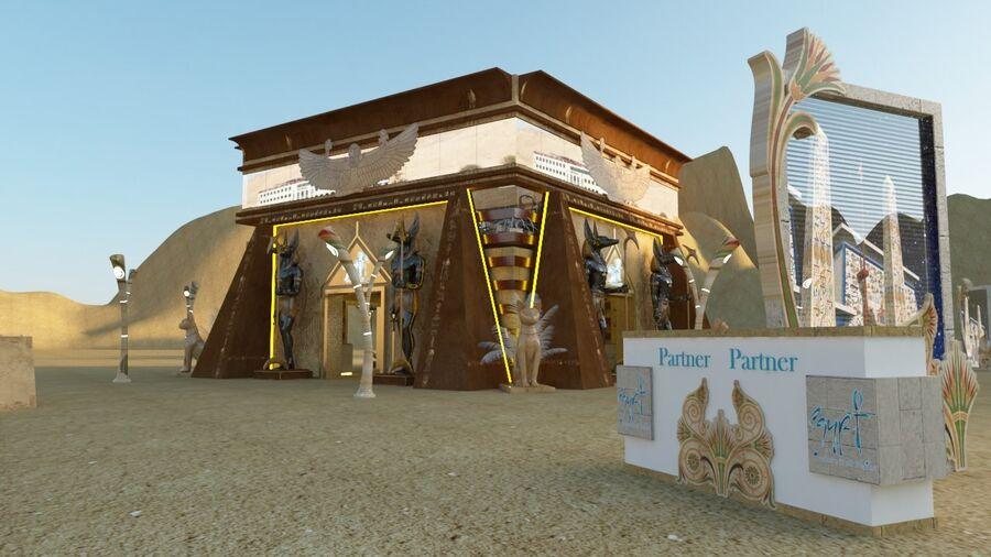 templo egipcio royalty-free modelo 3d - Preview no. 4