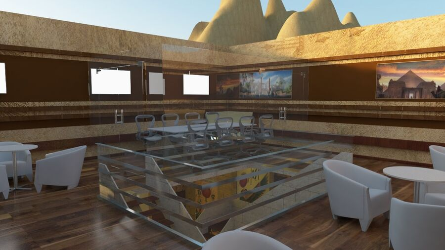 templo egipcio royalty-free modelo 3d - Preview no. 10