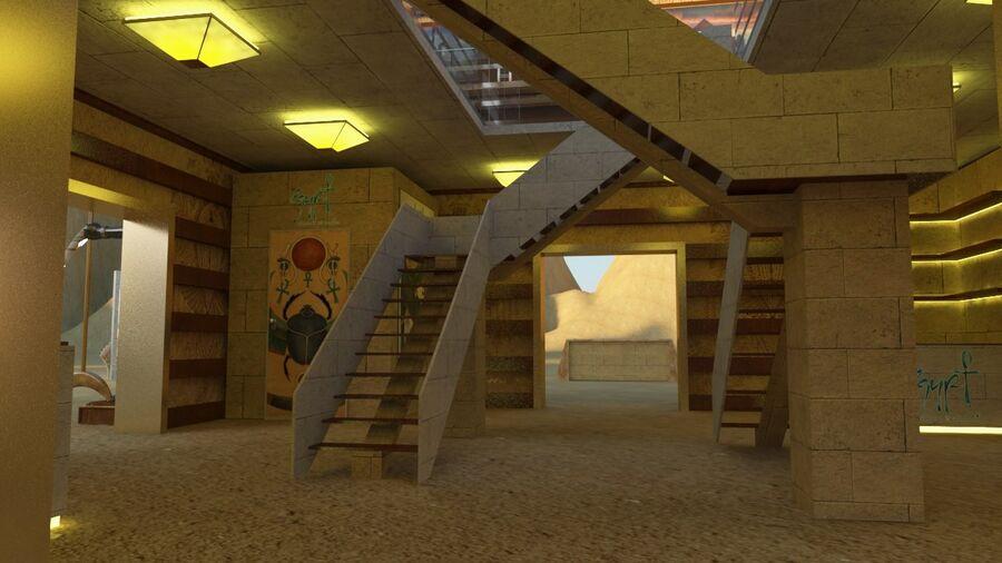 templo egipcio royalty-free modelo 3d - Preview no. 8