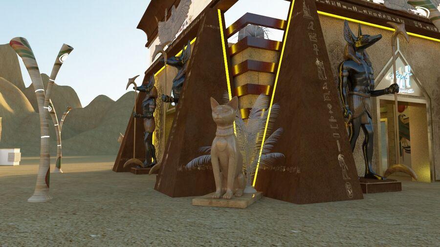 templo egipcio royalty-free modelo 3d - Preview no. 7