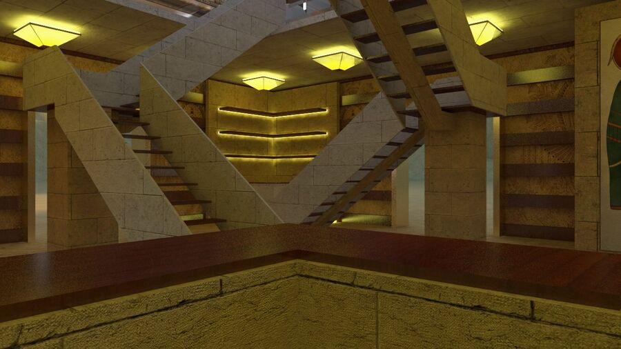templo egipcio royalty-free modelo 3d - Preview no. 9