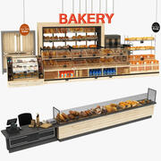 Collection de supports de boulangerie 3d model