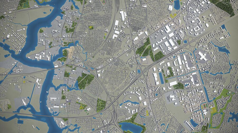 Chesapeake - Stadt und Umgebung royalty-free 3d model - Preview no. 8
