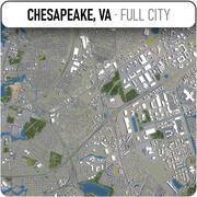 Chesapeake - Stadt und Umgebung 3d model