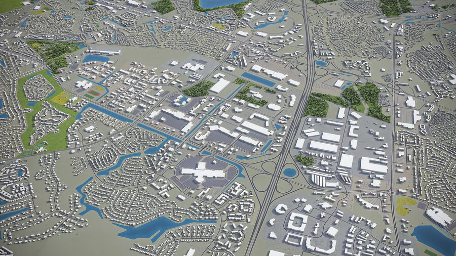 Chesapeake - Stadt und Umgebung royalty-free 3d model - Preview no. 6