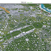 Delhi City India 3d model