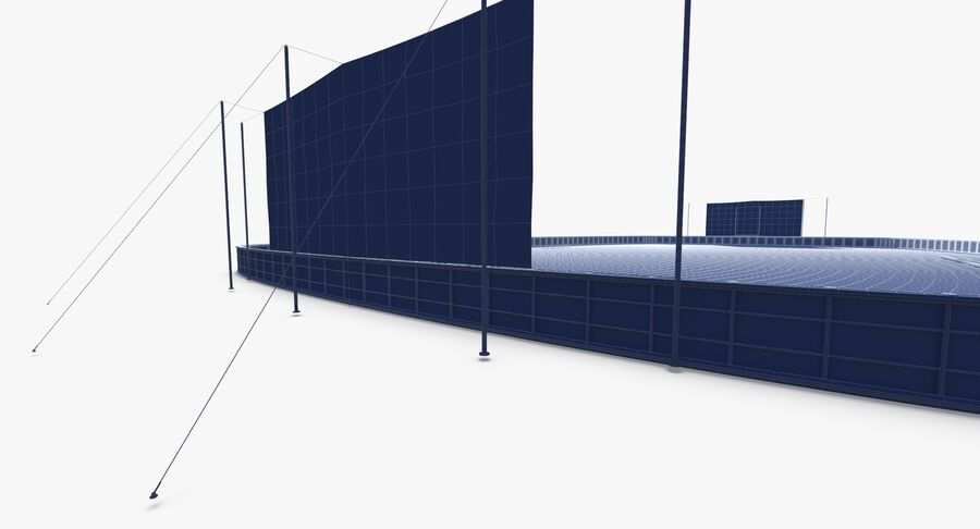 Football Field royalty-free 3d model - Preview no. 23