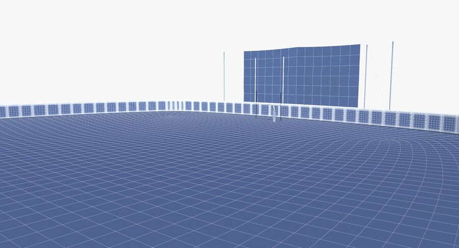 Football Field royalty-free 3d model - Preview no. 19