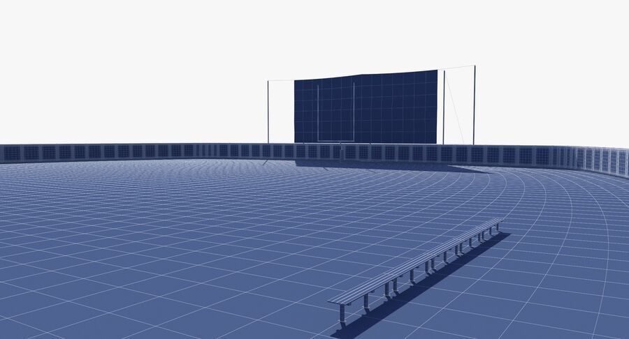 Football Field royalty-free 3d model - Preview no. 21