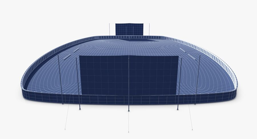 Football Field royalty-free 3d model - Preview no. 16
