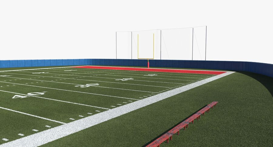 Football Field royalty-free 3d model - Preview no. 10