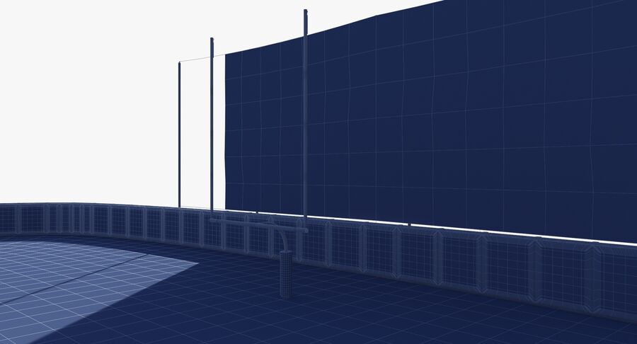 Football Field royalty-free 3d model - Preview no. 22