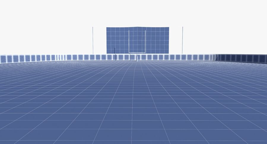 Football Field royalty-free 3d model - Preview no. 18