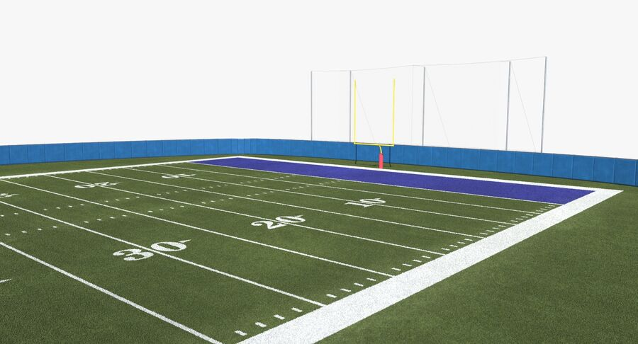 Football Field royalty-free 3d model - Preview no. 8