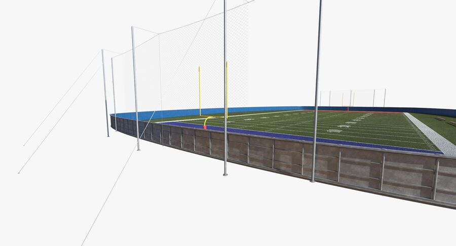 Football Field royalty-free 3d model - Preview no. 12