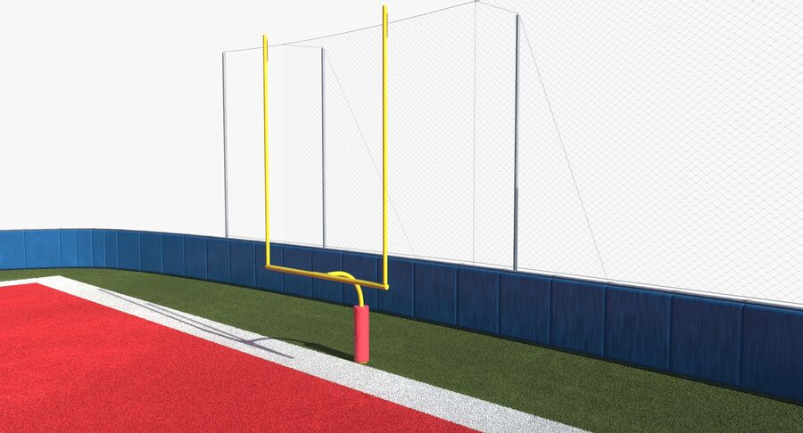 Football Field royalty-free 3d model - Preview no. 11