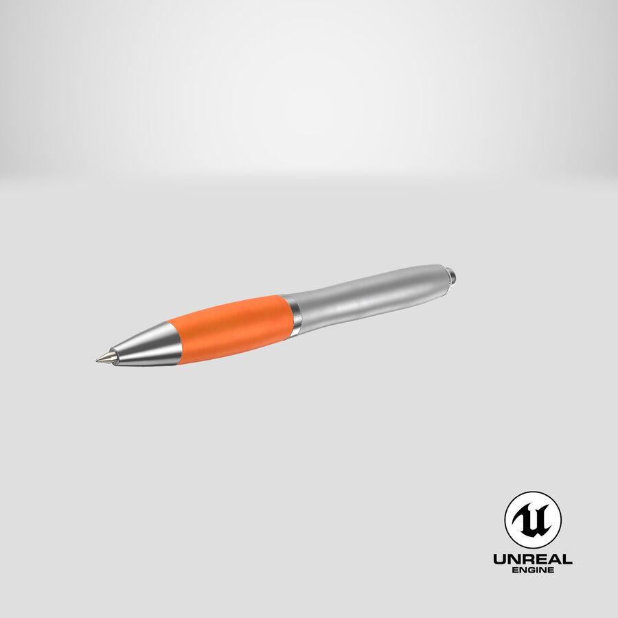 Promotional Ink Pen Mockup 02 Orange royalty-free 3d model - Preview no. 24