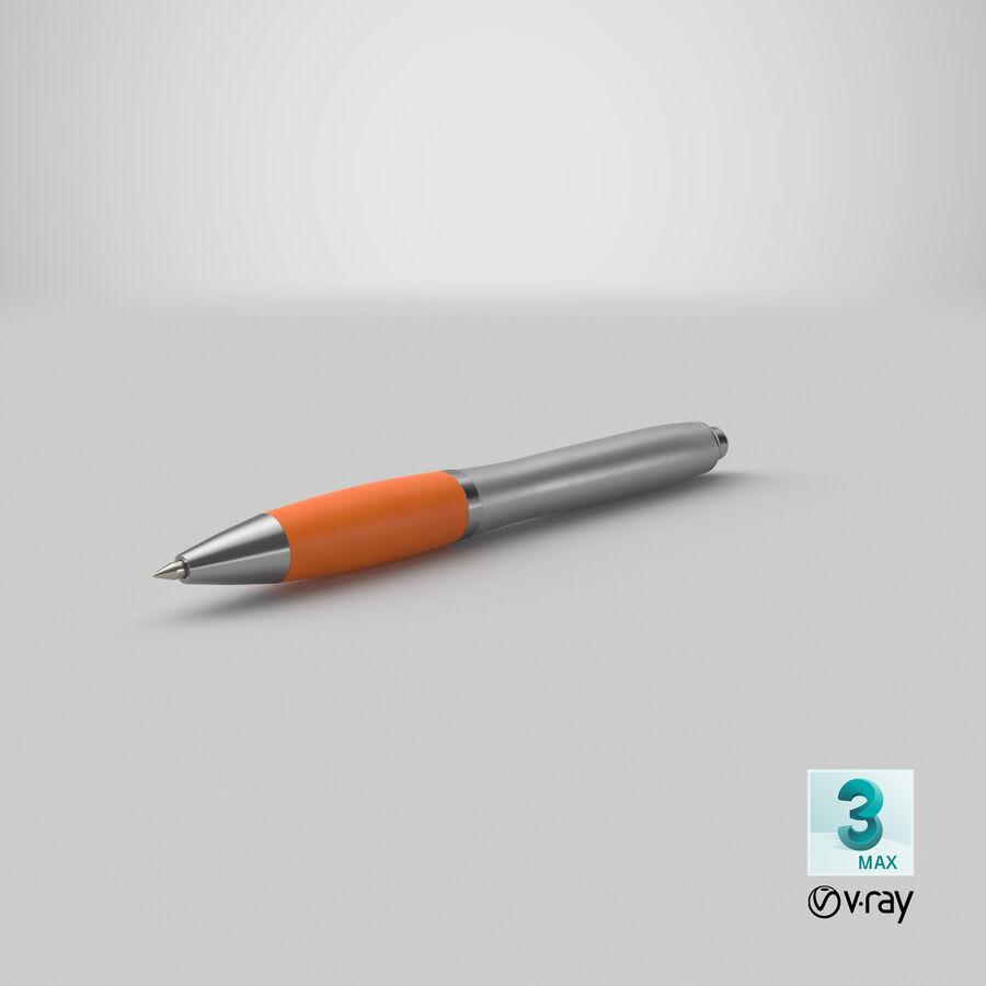 Promotional Ink Pen Mockup 02 Orange royalty-free 3d model - Preview no. 22