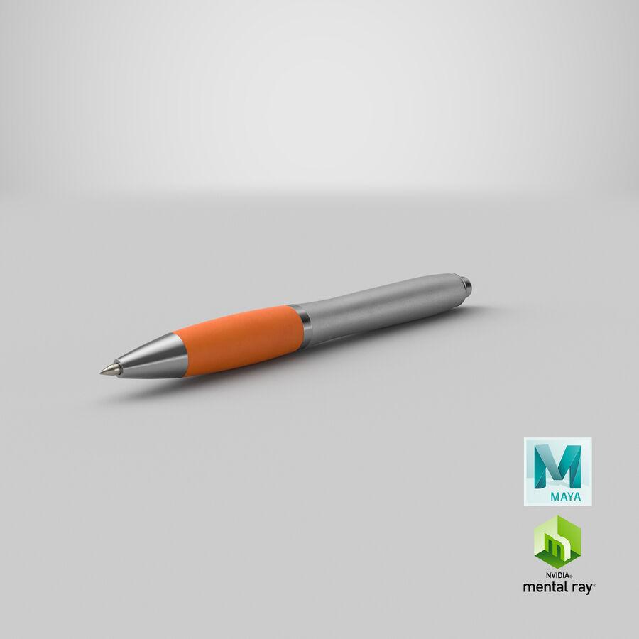 Promotional Ink Pen Mockup 02 Orange royalty-free 3d model - Preview no. 21