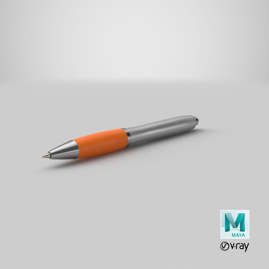 Promotional Ink Pen Mockup 02 Orange royalty-free 3d model - Preview no. 20